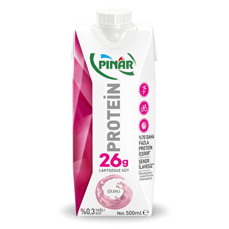 Pınar Proteinli Süt Çilekli 500 Ml
