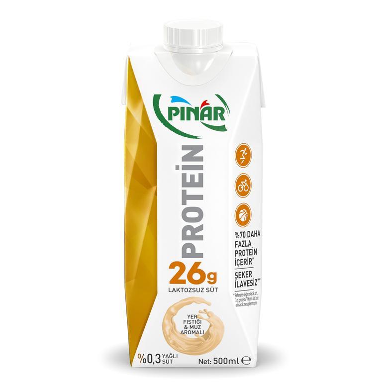 Pınar Proteinli Süt Muzlu-Yer Fıstıklı 500 Ml