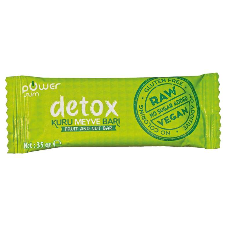 Power Slim Detox  Meyve Kurulu Bar 35 G