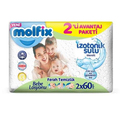 Molfix Islak Havlu 2x60'lı