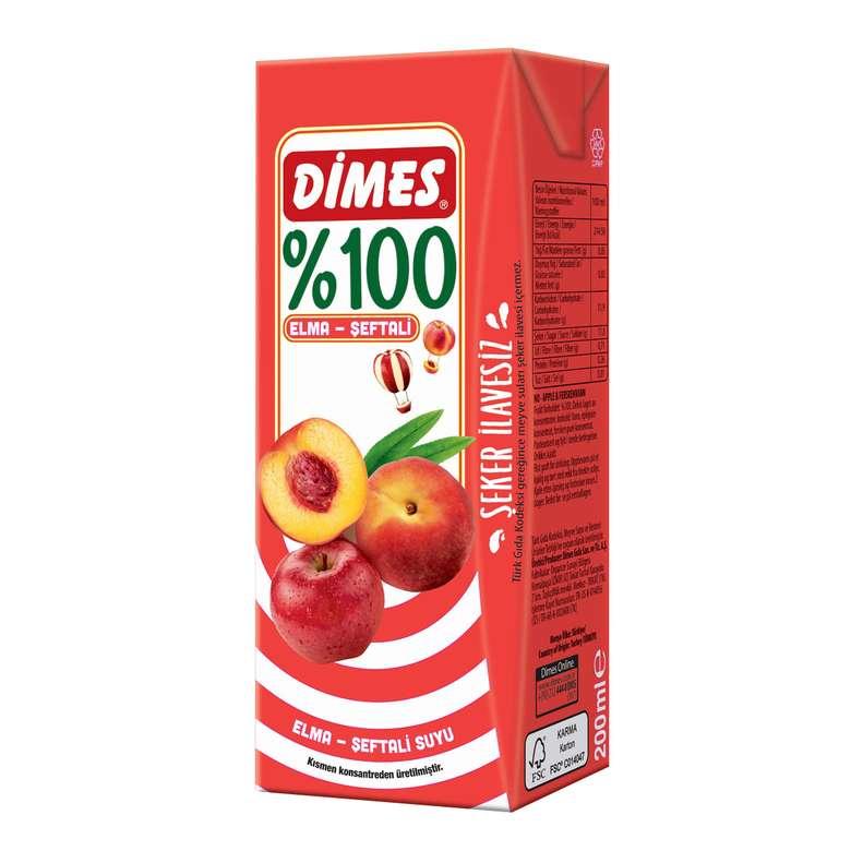 Dimes Meyve Suyu %100 Şeftali-Elma 200 Ml