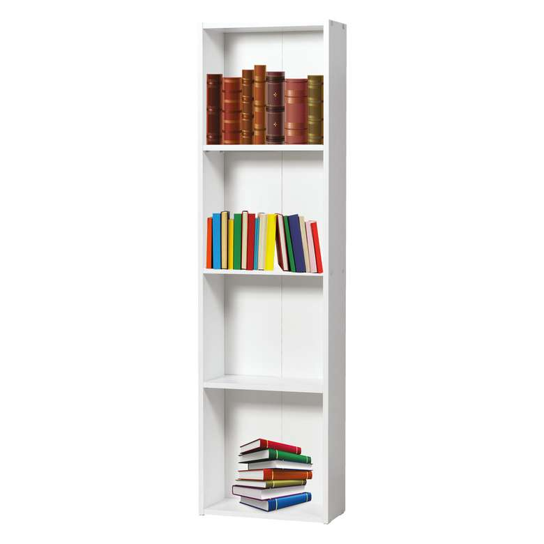 4 Raflı Kitaplık 160X44,3X20 Cm