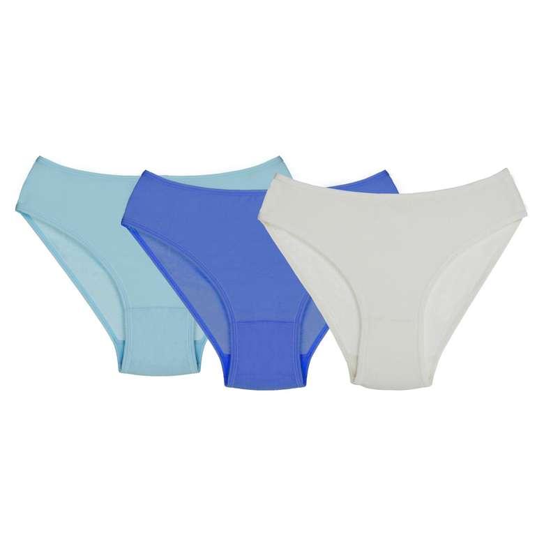 Silk & Blue Kadın Modal Slip 3'lü