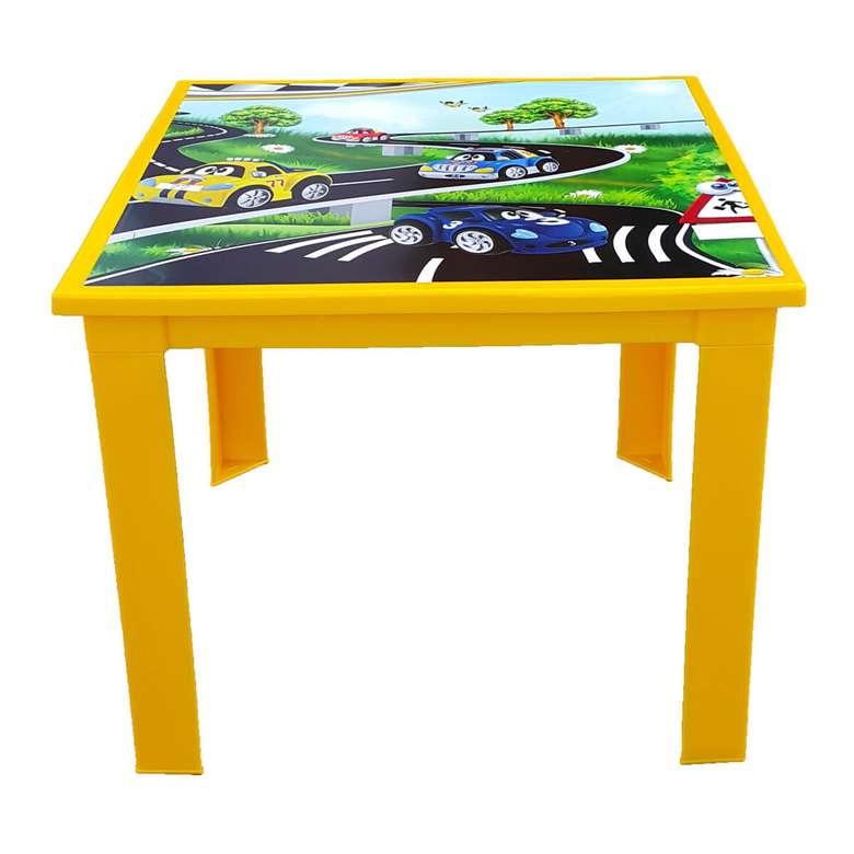Çocuk Masası Sarı Araba