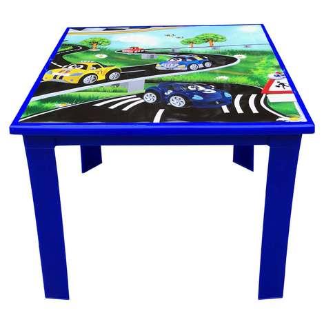 Çocuk Masası Mavi Araba