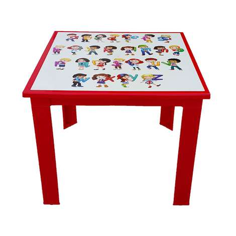 Çocuk Masası Kırmızı Alfabe