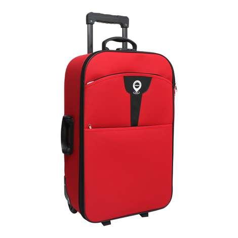Raboom Büyük Boy Kumaş Valiz/Bavul- Kırmızı