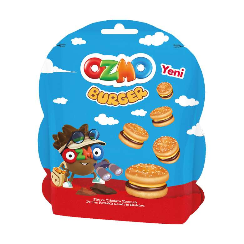 Ozmo Burger Kre. Bisküvi 53 G