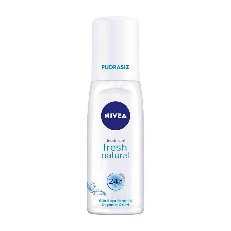 Nivea Fresh Natural Deodorant Pudrasız Kadın 75 Ml