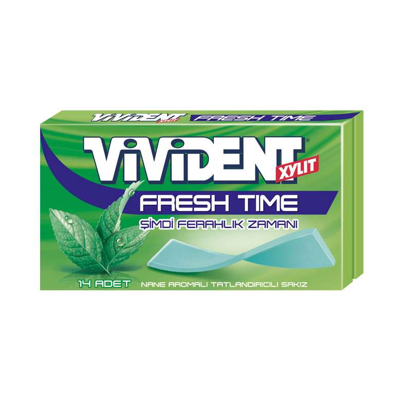 Vivident Fresh Time Sakız Nane Aromalı 27 G
