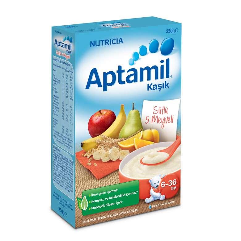 Aptamil Sütlü 5 Meyveli Tahıl Bazlı Kaşık Maması  250 g 6-36 Ay