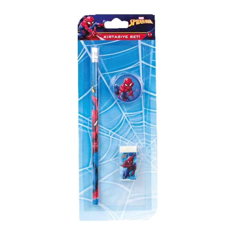 Spiderman Lisanslı Kalem Silgi Kalemtraş Seti