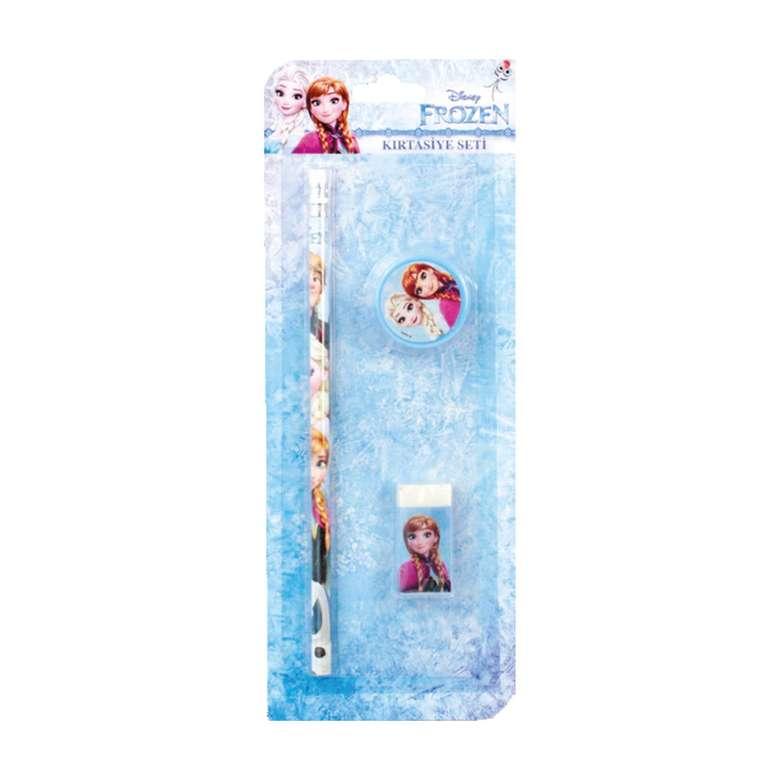 Frozen Lisanslı Kalem Silgi Kalemtraş Seti