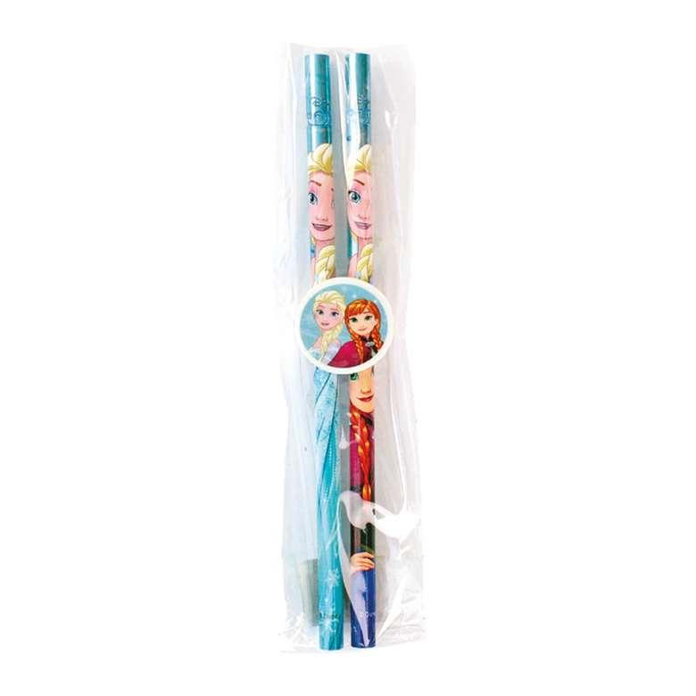 Frozen Lisanslı 2 Kalem ve Silgi Seti