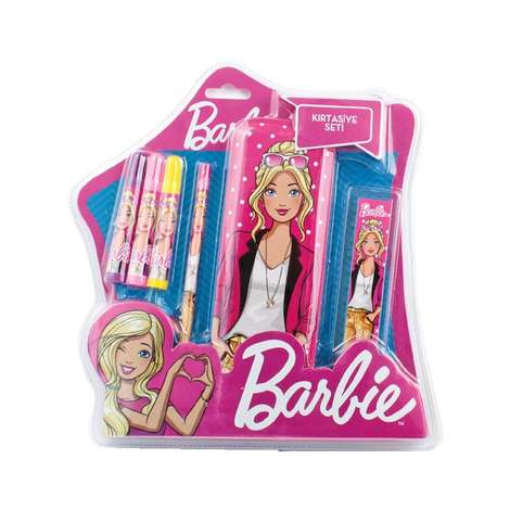 Barbie Lisanslı Blisterli Kırtasiye Seti