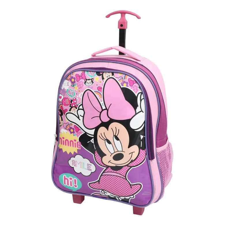 Lisanslı Minnie Mouse Çekçekli İlkokul Çantası Wide