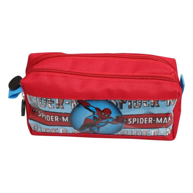 Çift Gözlü Kalem Çantası Art Spidermen