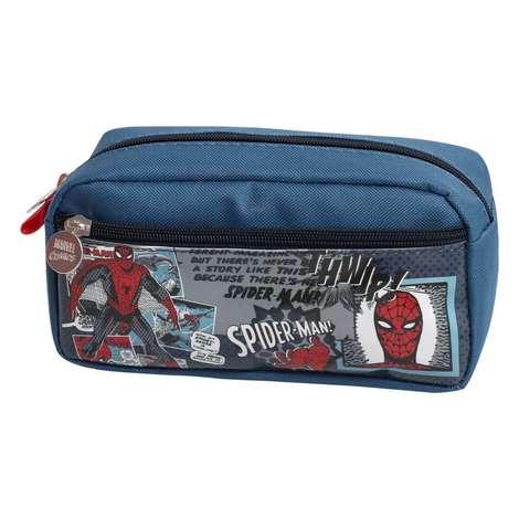 Lisanslı Çift Gözlü Kalem Çantası Bawıt Spidermen