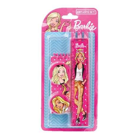 Barbie Lisanslı Defterli Kırtasiye Seti