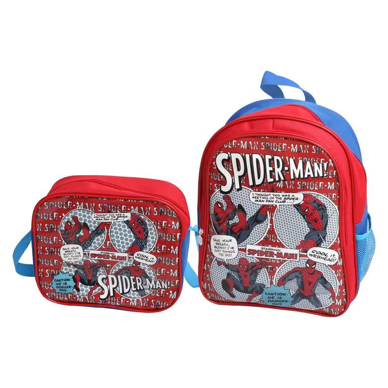 Lisanslı Beslenmeli İlkokul Çantası Wide Spiderman