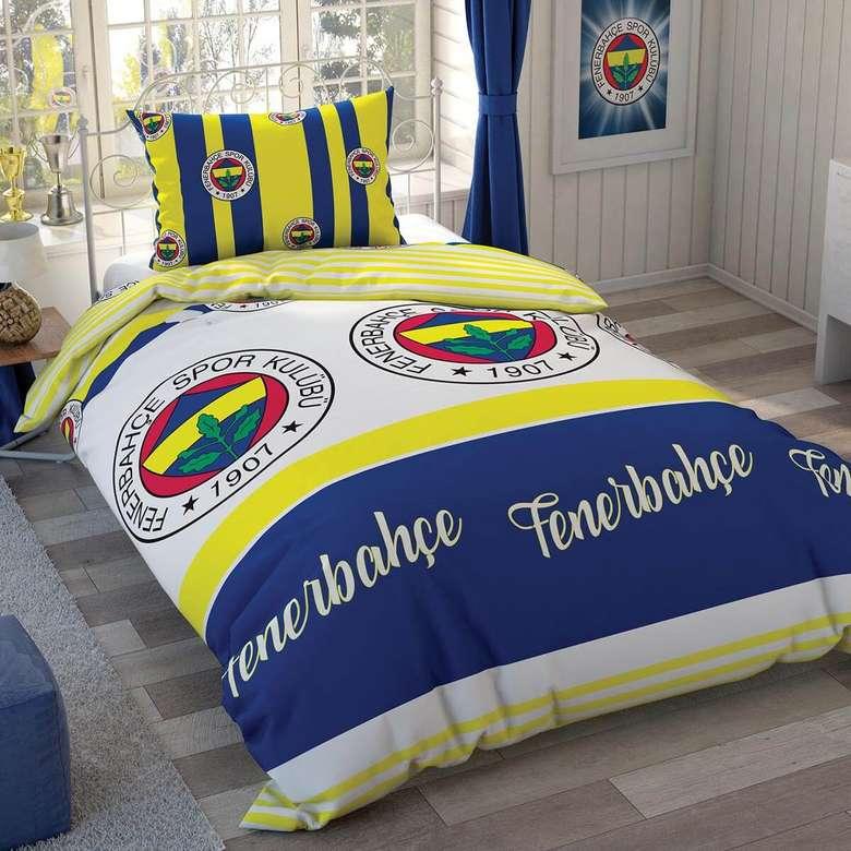 Taraftar Lisanslı Tek Kişilil Nevresim Set Fenerbahçe