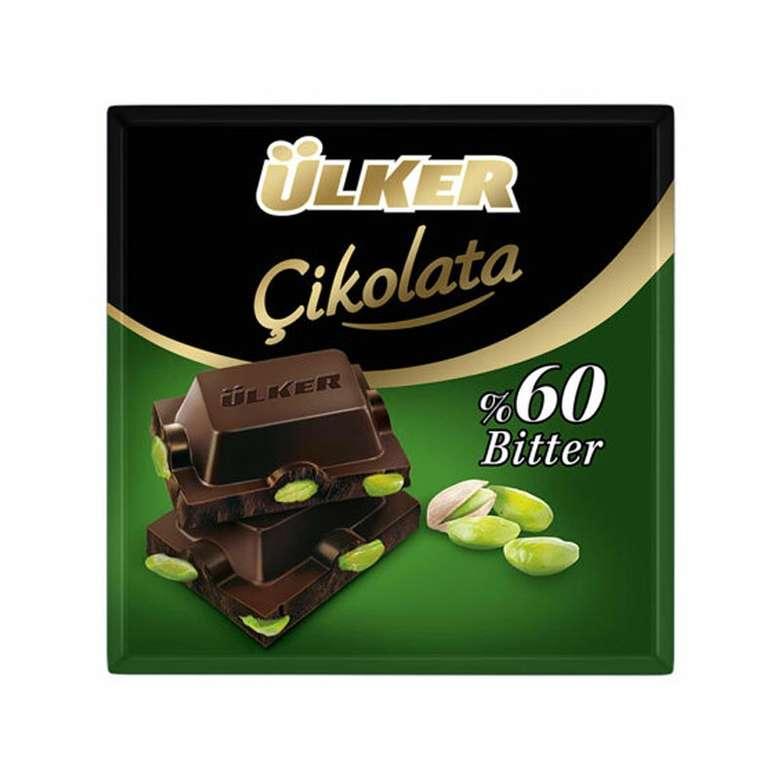 Ülker Çikolata Bitter Antep Fıstıklı 70 G