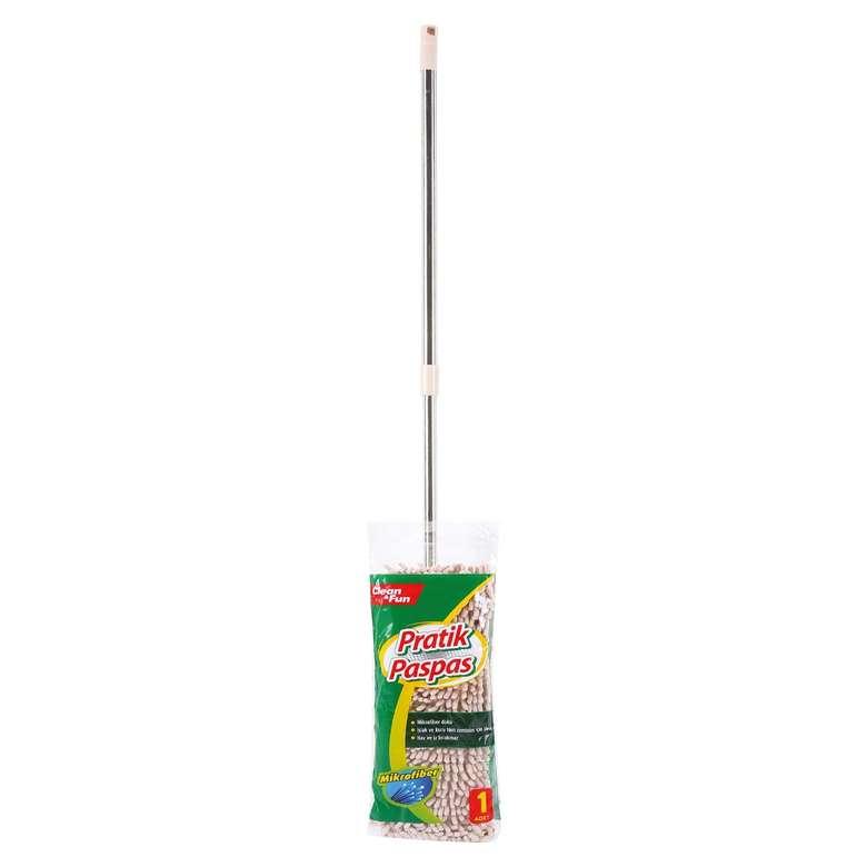 Clean&Fun Mop Seti Mikrofiber - Krem