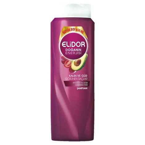 Elidor Kalın ve Gür Görünümlü Saçlar için Avakado Ve Üzüm Çekirdeği Yağı Özlü Şampuan 650 ml