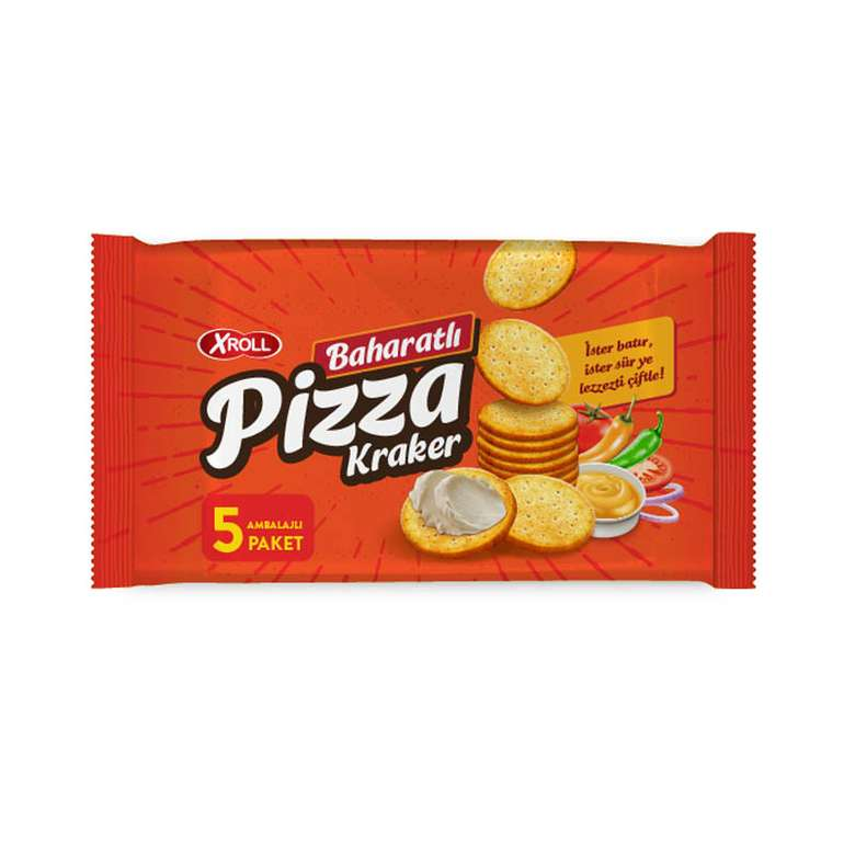 X-roll Baharatlı Pizza Kraker 360 G
