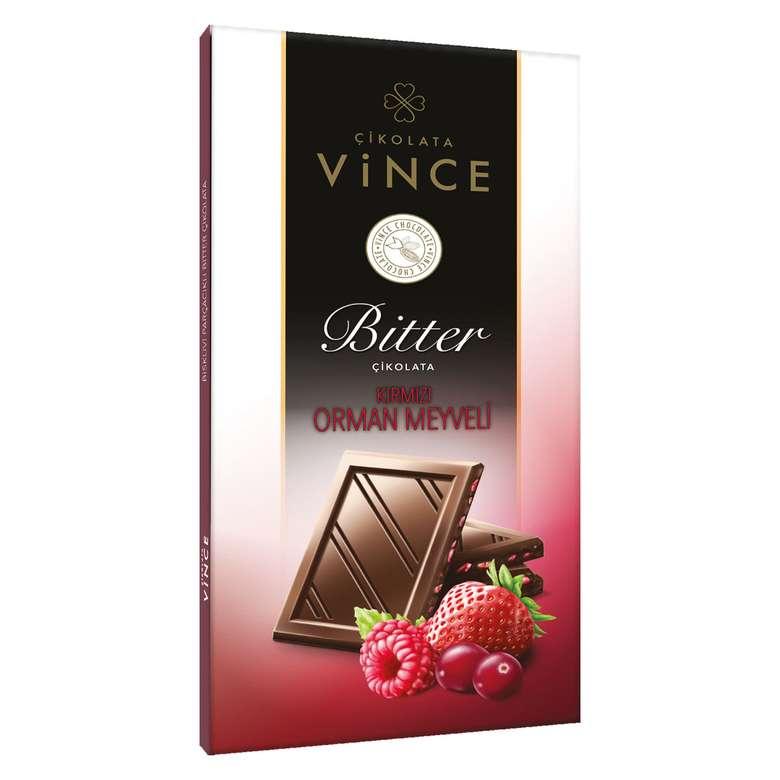 Vince Bitter Orman Meyve Parçacıklı Çikolata 70 G