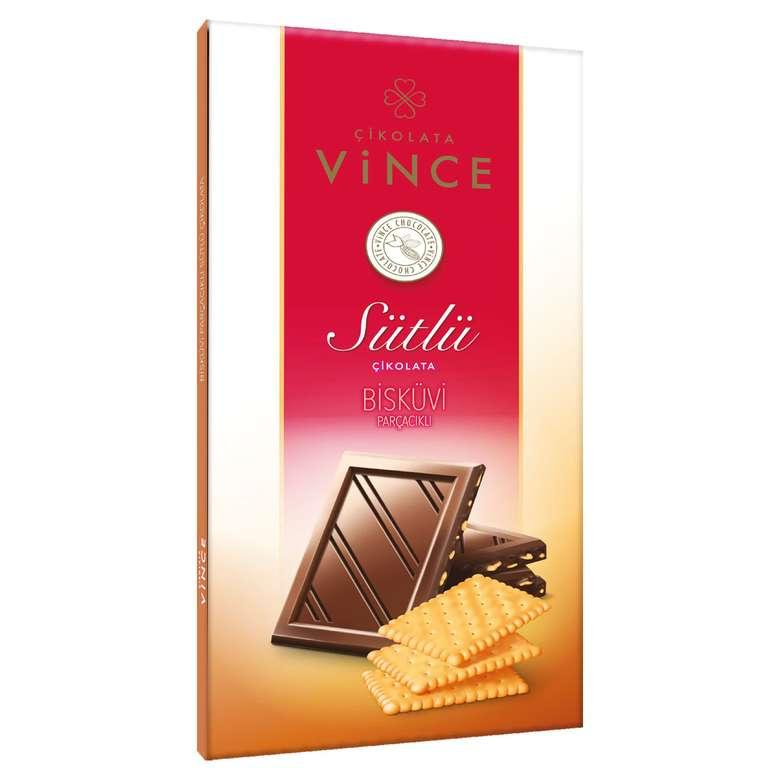 Vince  Sütlü Bisküvi Parçacıklı Çikolata 70 G