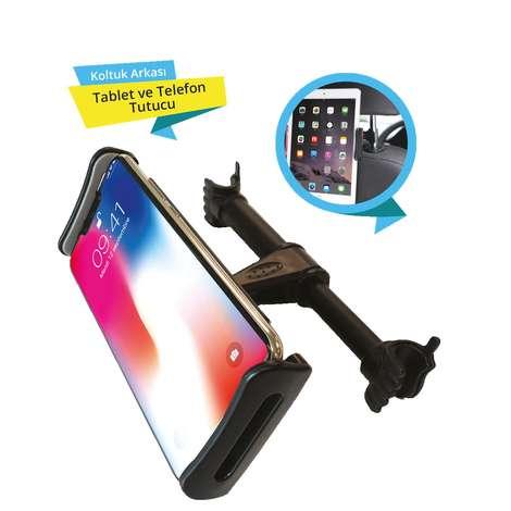 Piranha Araç Koltuk Arkası Tablet ve Telefon Tutucu