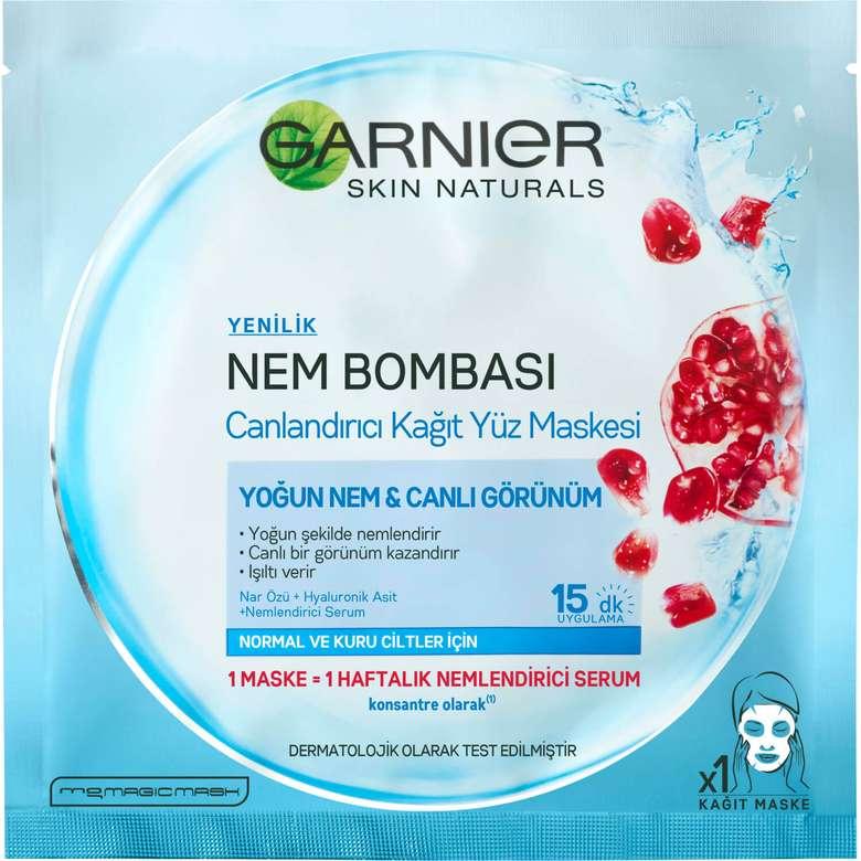 Garnier Nem Bombası Canlandırıcı Kağıt Yüz Maskesi 32 gr