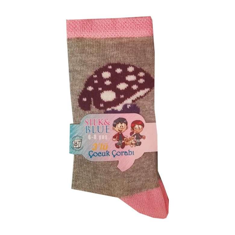 Silk & Blue Kız/Erkek Çocuk Soket Çorap 3'lü