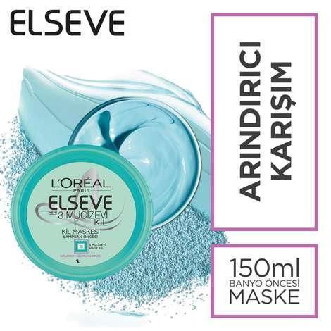Elseve Şampuan Öncesi 3 Mucizevi Kil Maskesi - Arındırıcı