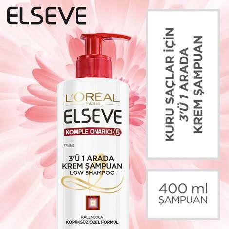 Elseve Komple Onarıcı 3'ü 1 Arada Krem Şampuan 400 ml