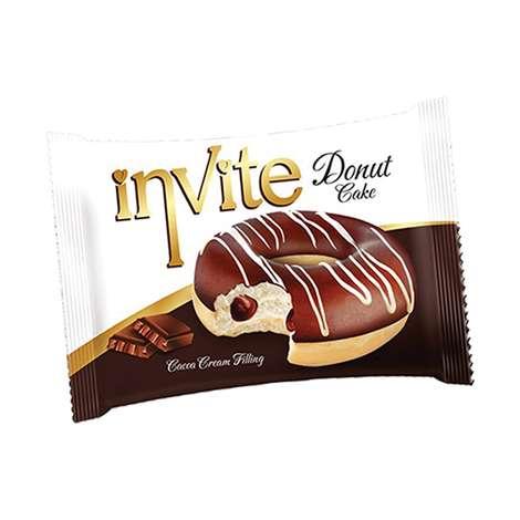 İnvite Kek Donut Kakao Soslu 40g