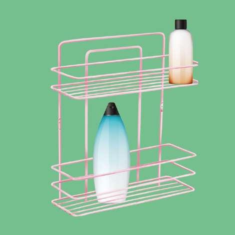 Plas Kaplı Banyo Ürün 2 Katlı Şampuanlık