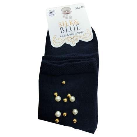 Silk&Blue Bayan Boncuklu Soket Çorap