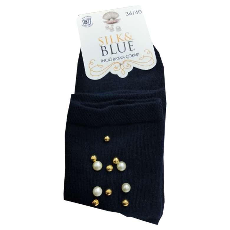 Silk&Blue Kadın Boncuklu Soket Çorap