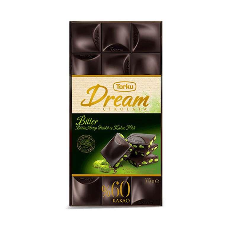 Torku Dream  %60 Bitter Antep Fıstıklı Çikolata 75 G