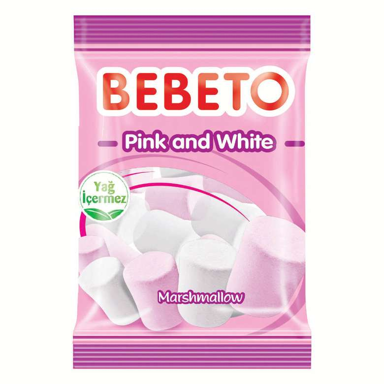 Bebeto Mars Pink And White Yum. Şeker 70 G