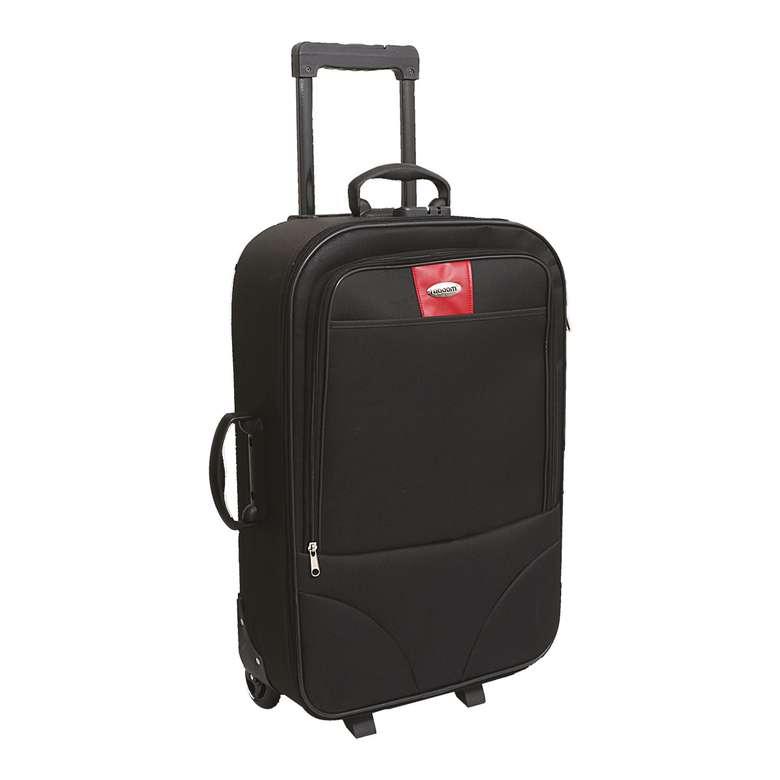 Raboom Orta Boy Kumaş Valiz/Bavul- Siyah