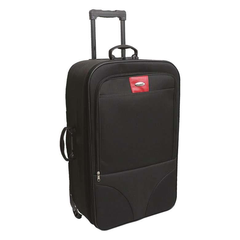 Raboom Büyük Boy Kumaş Valiz/Bavul- Siyah