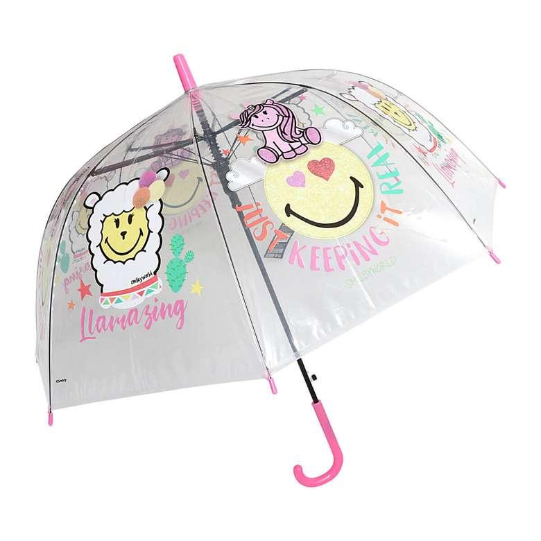 Smiley  Kubbe Çocuk Şemsiyesi Kawaii