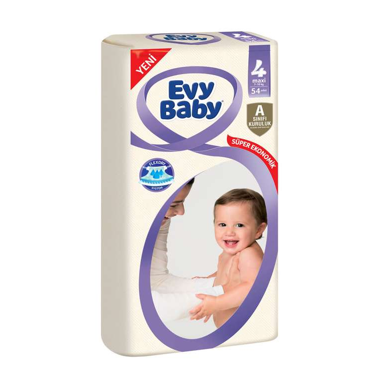 Evy Baby 4 Numara  Maxi 54'lü Çocuk Bezi