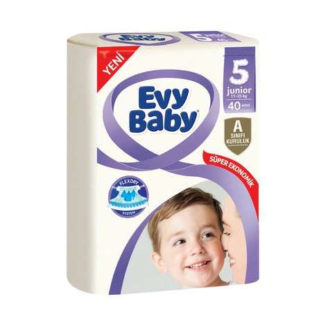Evy Baby 5 Numara Junior 40'lı Çocuk Bezi