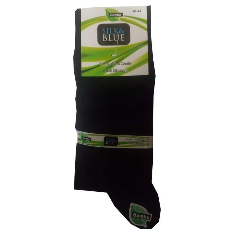 Silk&Blue Bambu Mat Siyah Erkek Çorap