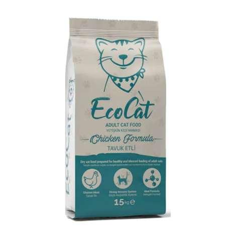 Ecocat Tavuklu Yetişkin Kedi Mama 15 Kg