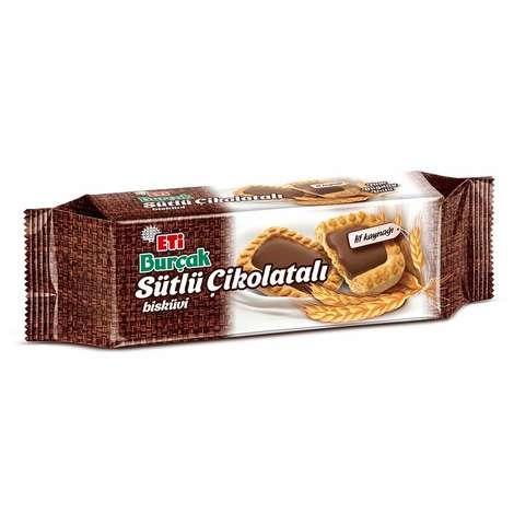 Eti Burçak Bisküvi Sütlü Kremalı Çikolatalı 114g